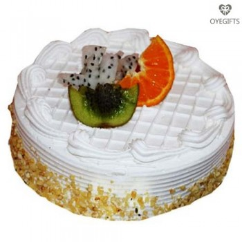 Pineapple With Fruits Cake 1 kg