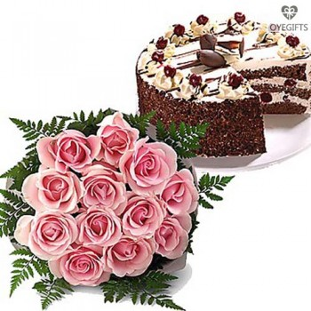 Pink Bunch with Cake