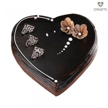 2Kg Chocolate Heart Shape Cake